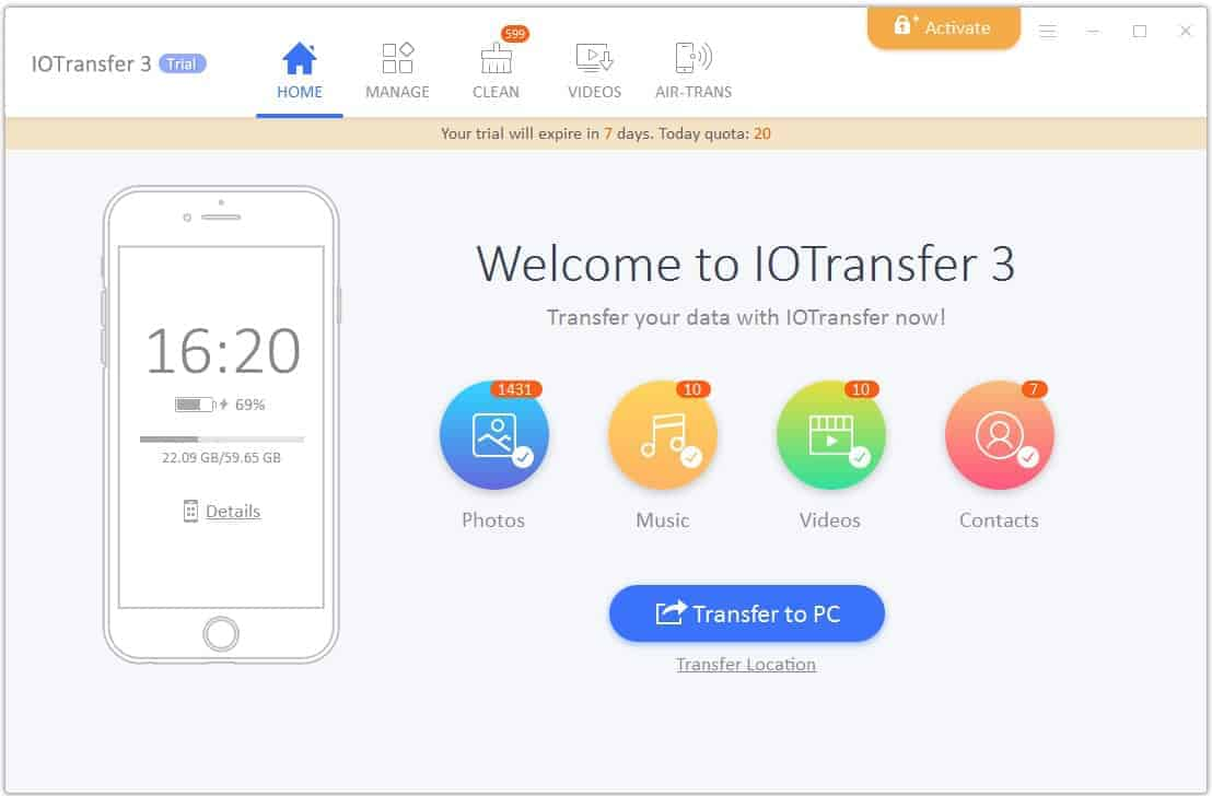 IOTransfer 3 - An Ultimate Media Files Manager for iPhone and Windows PC Users - 2