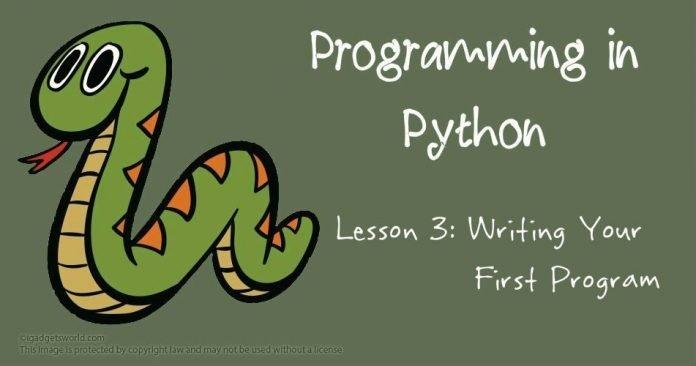 Programming in Python: Writing Your First Program - 2