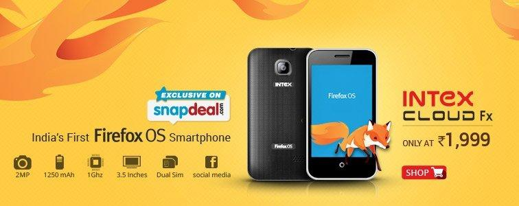 Intex Cloud FX -The most affordable FireFox OS smartphone ...