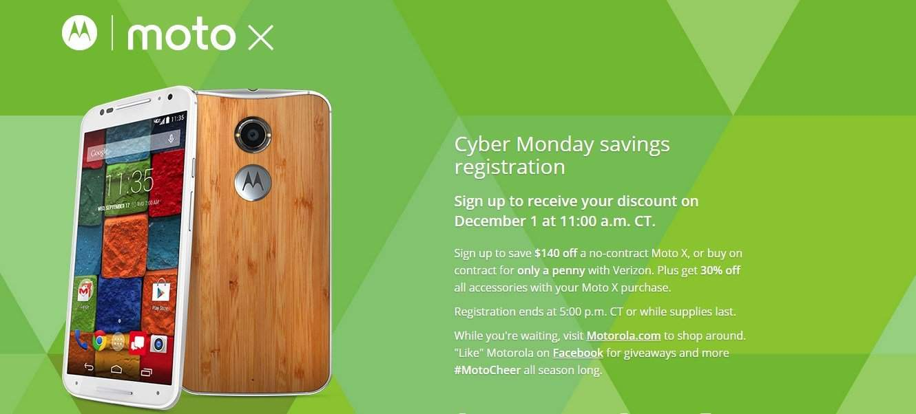 Buy Moto X 2nd Gen 2014 For Just 1 Cent More Offers Inside Cyber Monday Deals Igadgetsworld