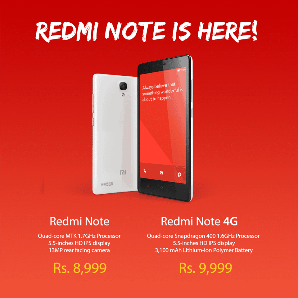 Redmi Note processor is Octa-core, but not the Quadcore, there's a mistake in the image