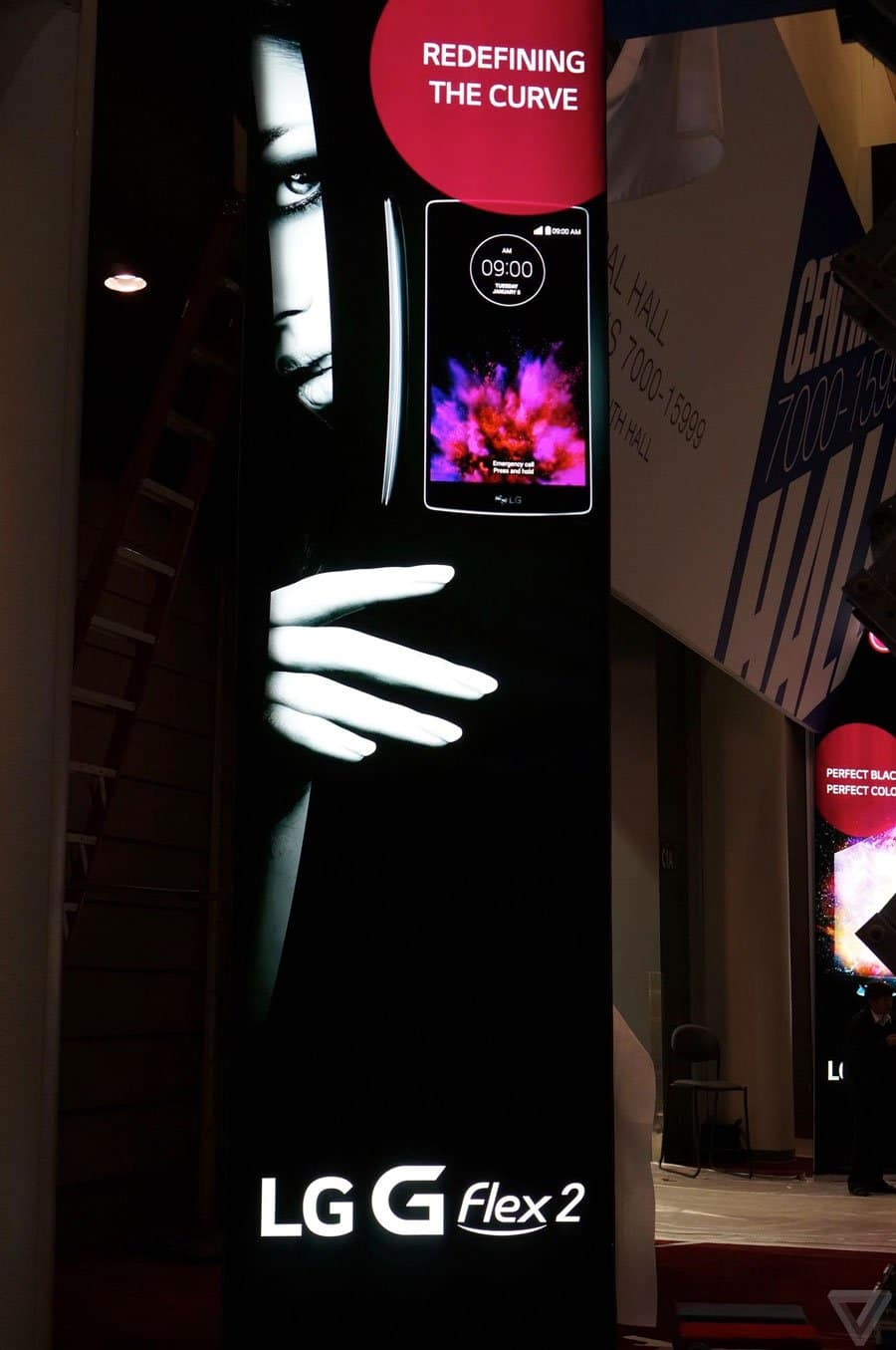 lg g flex 2 smartphone poster release ces 2015