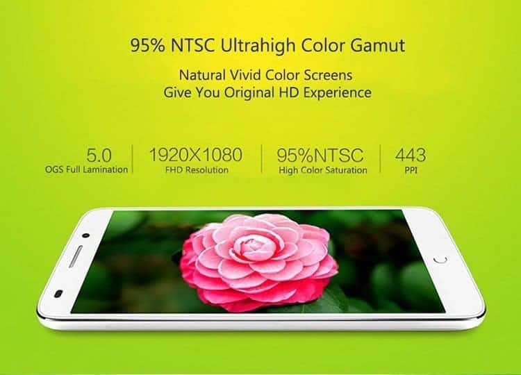 TCL 3S M3G smartphone display