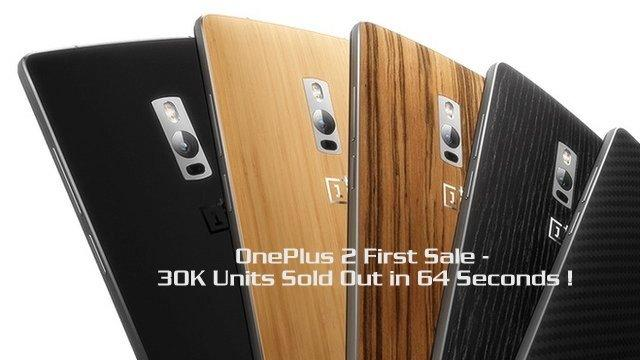 OnePlus 2 -30K units-sold-out-64-seconds