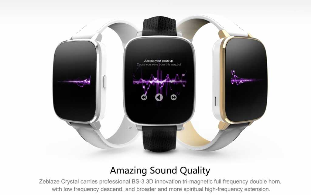zeblaze crystal smartwatch-audio-sound-quality