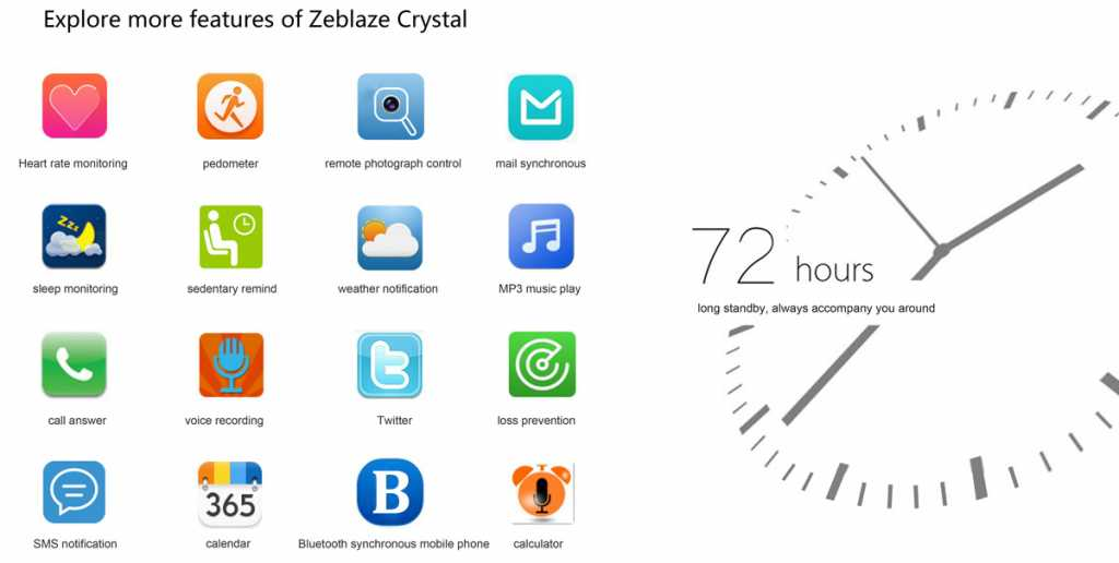 zeblaze crystal smartwatch-features