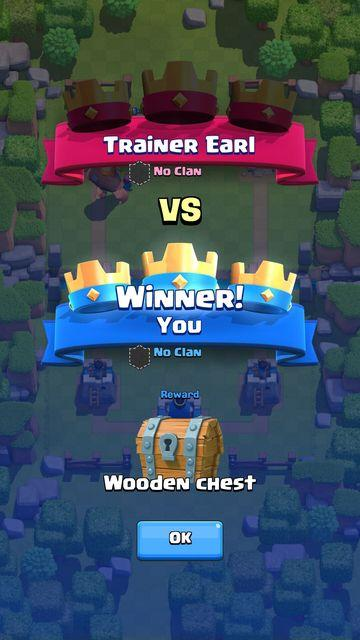 Got a wooden chest in clash royale