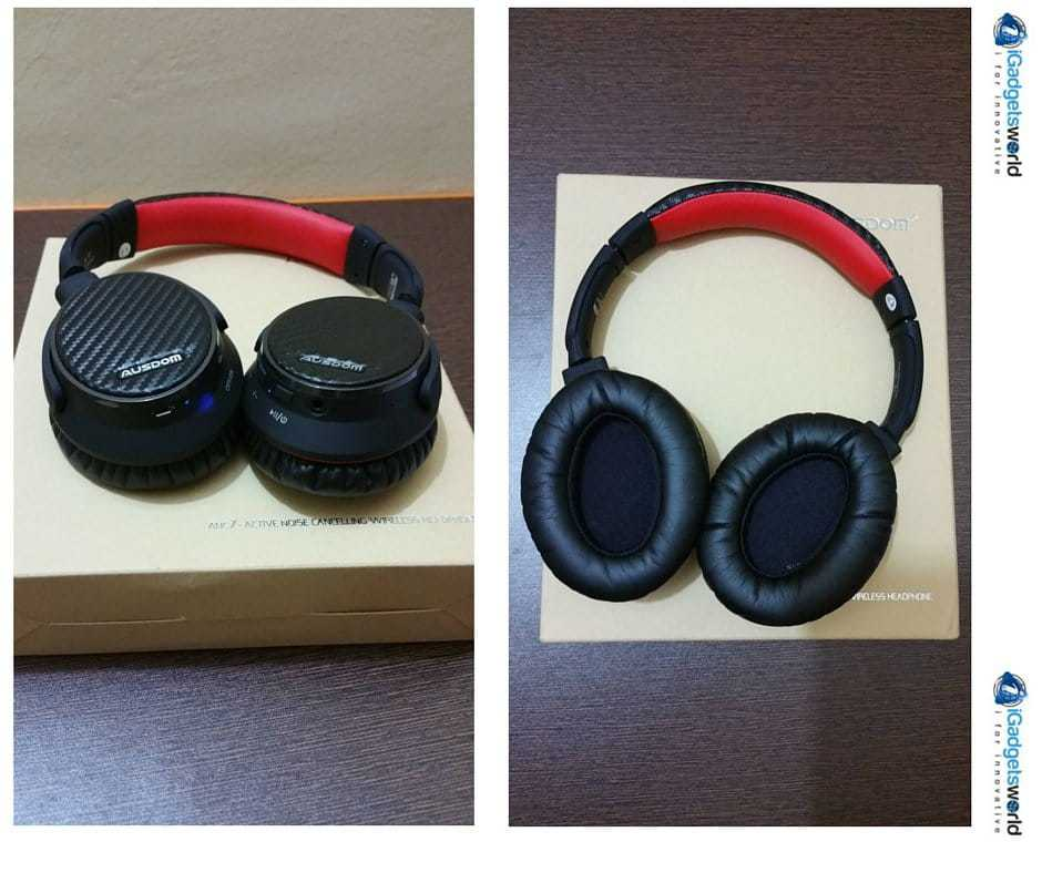 AUSDOM ANC7 wireless headphone unboxing