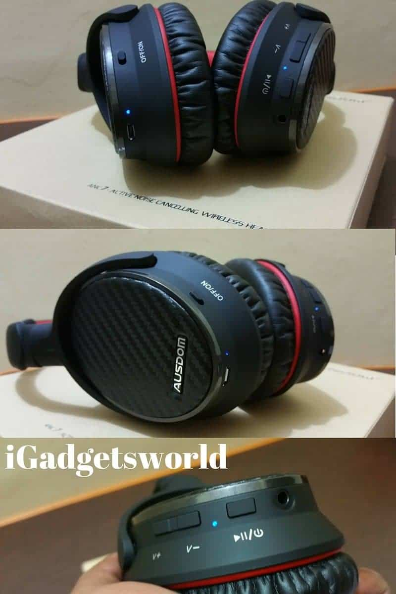 AUSDOM ANC7 wireless headphone unboxing - 2