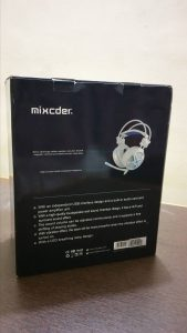 mixcder power - gaming headset unboxing