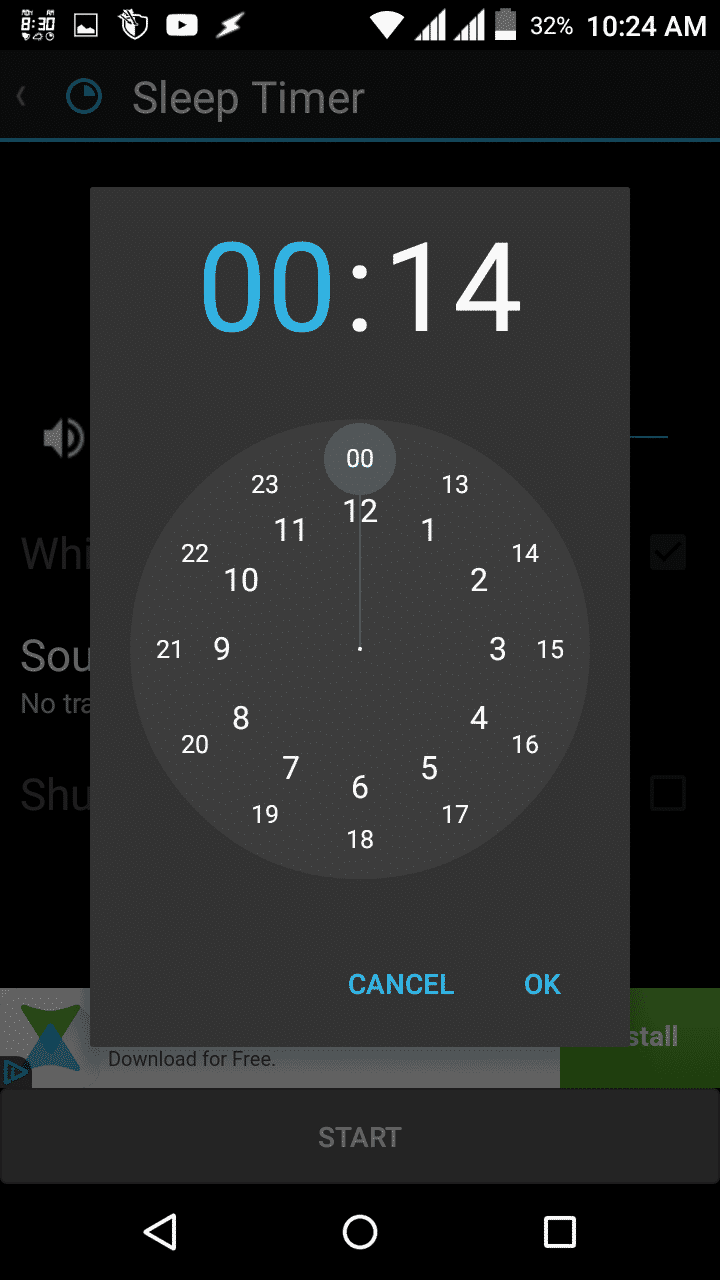 Android clock app source
